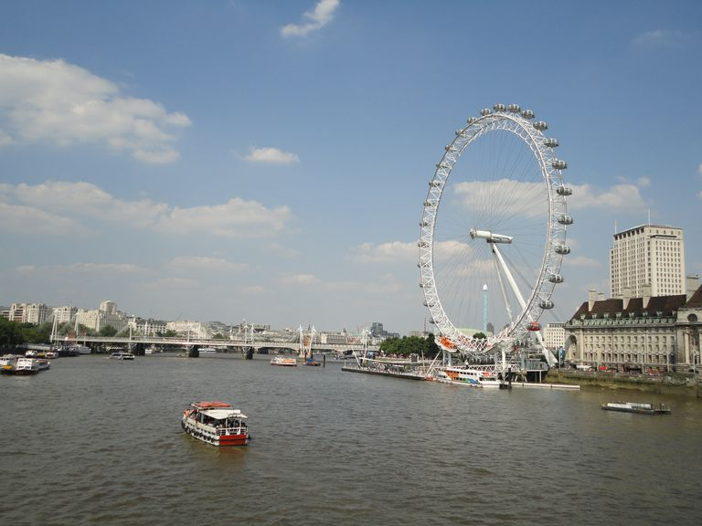 River Thames, London Eye, London, Great Britain
