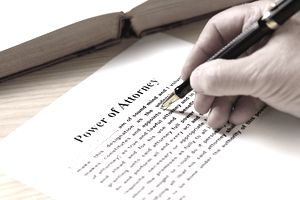 person signing a power of attorney document