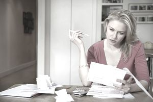 Woman reading important documents