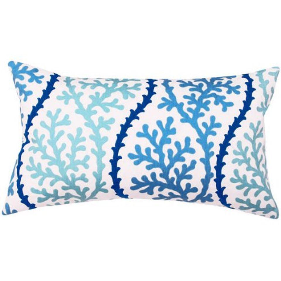 Cute coastal throw pillow.