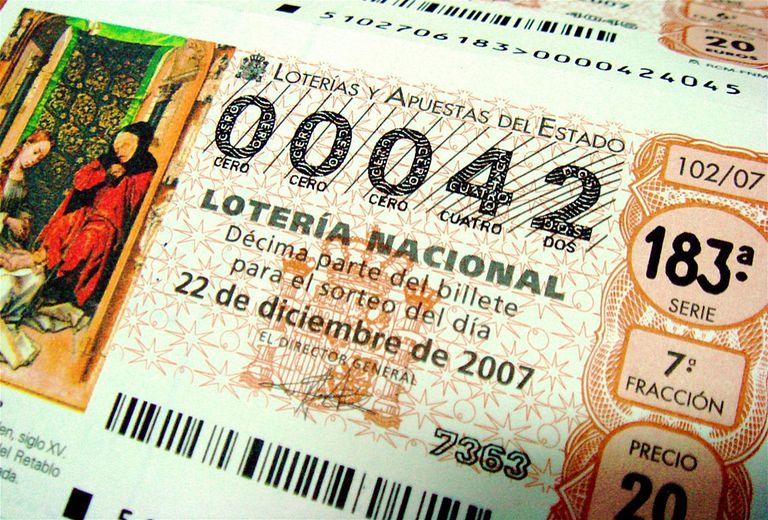 Spanish lottery ticket for lesson on Spanish numbers