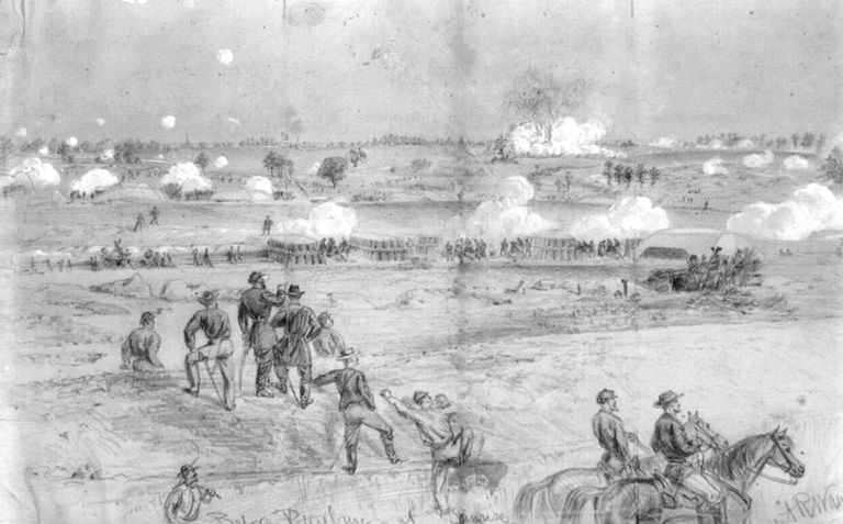 Fighting at the Battle of the Crater