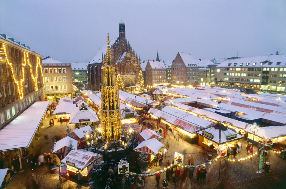 Christkindl market in Nuremberg, Frankonia, Germany