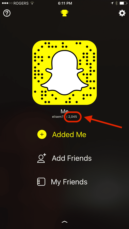 Snapchat Scores
