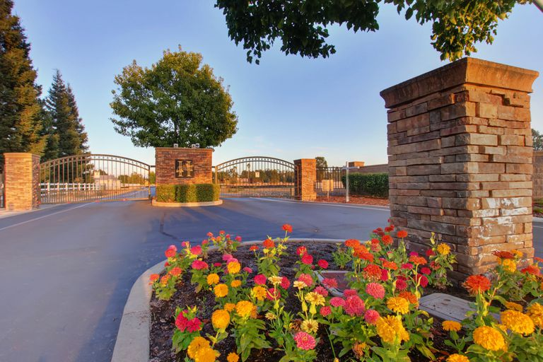 entrance to a gated community