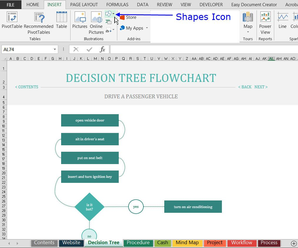 How to find and use excels free flowchart templates pronofoot35fo Images