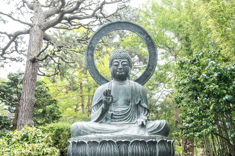 Buddha in Tea Garden