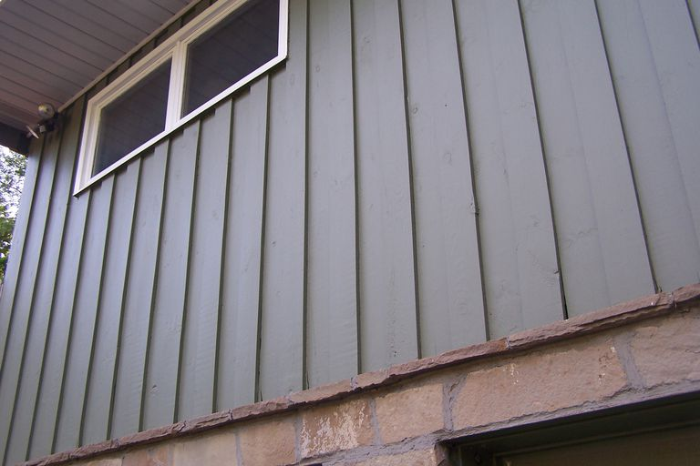 Board and Batten Siding Close Up