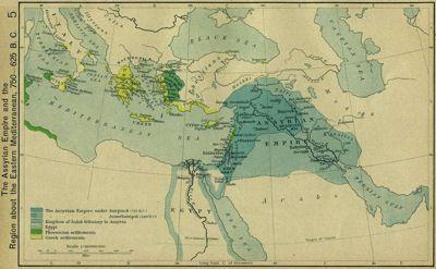 Assyrian Empire Under Sargon II 720 B.C.