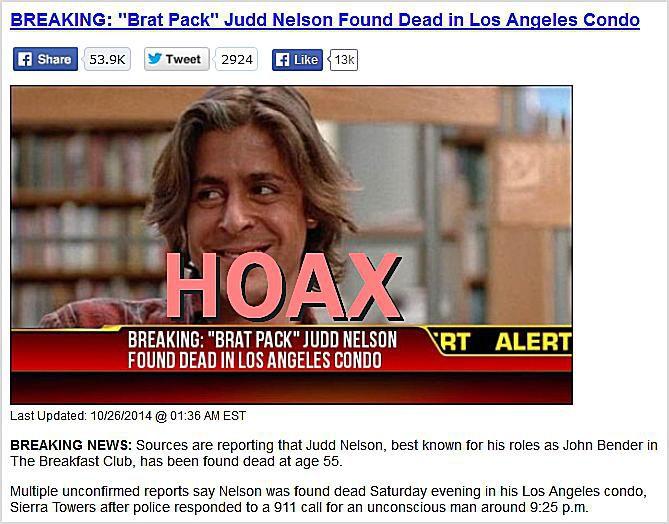 BREAKING: Brat Pack Judd Nelson Found Dead in Los Angeles Condo