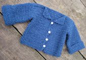A Homemade Baby Sweater Makes an Ideal Baby Shower Gift.