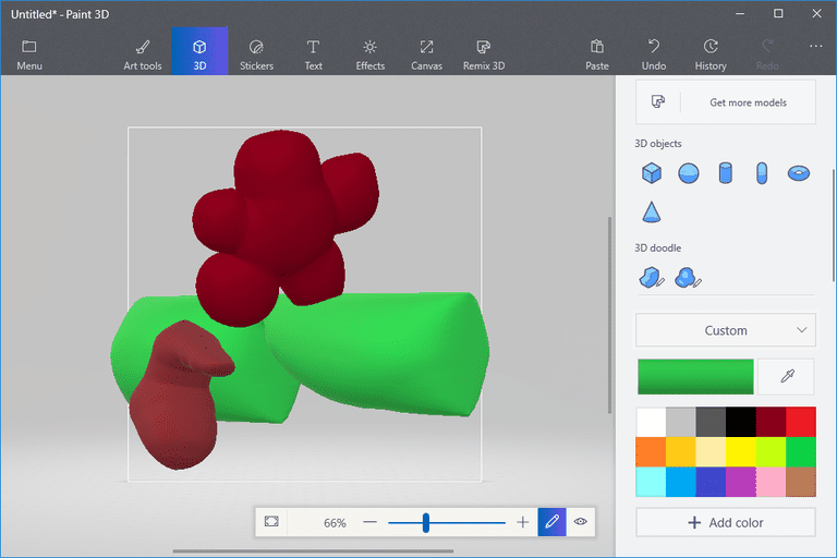 How to create a 3d drawing in microsoft paint 3d for How to paint 3d