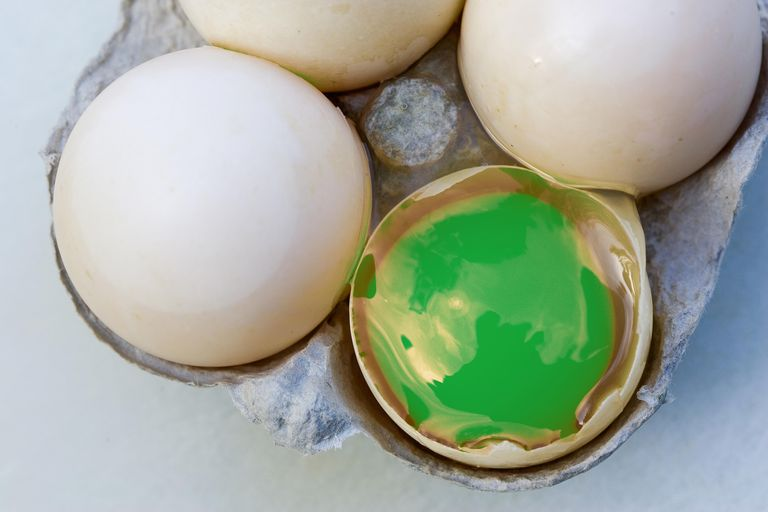 It's possible to change the color of an egg yolk.