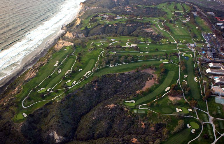 A general view of the Torrey Pines South Golf Course