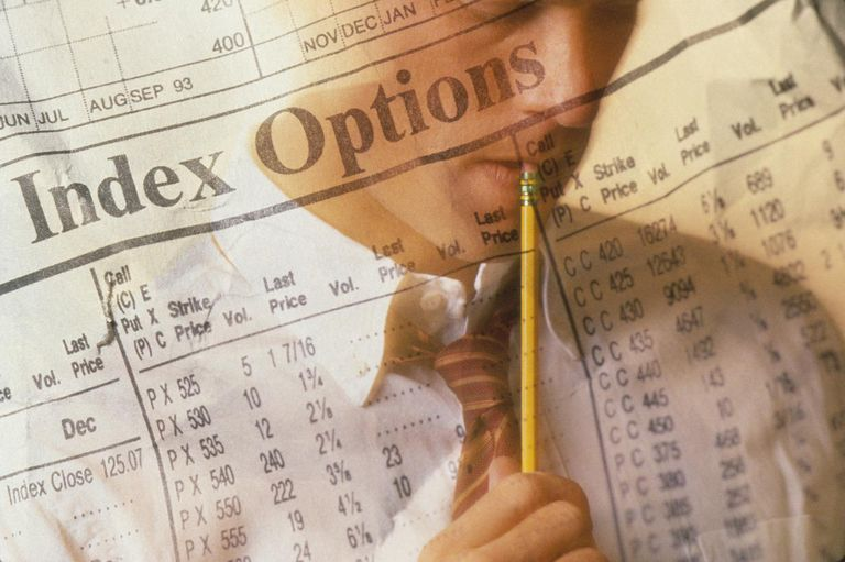 Businessman and stock report (Digital Enhancement)