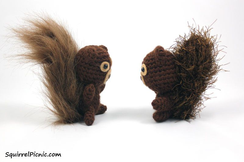 SquirrelPicnic's Free Crochet Squirrel Pattern