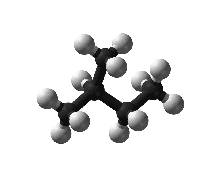 Isopentane is an example of a branched chain alkane.