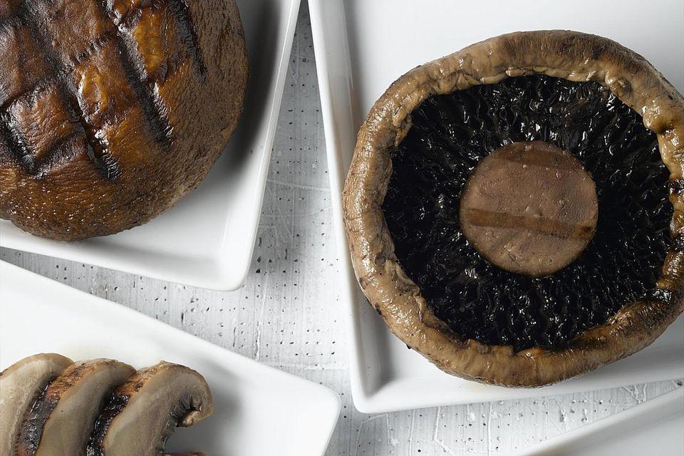 Grilled portobello mushrooms