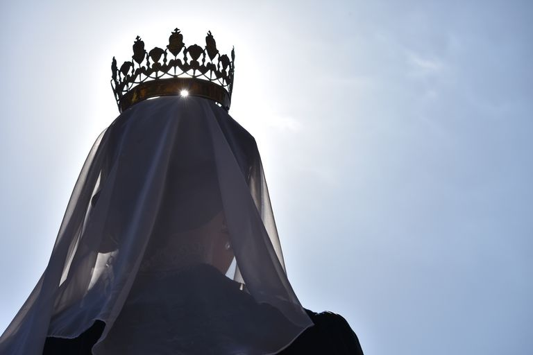 Queen Wearing Crown Against Sky