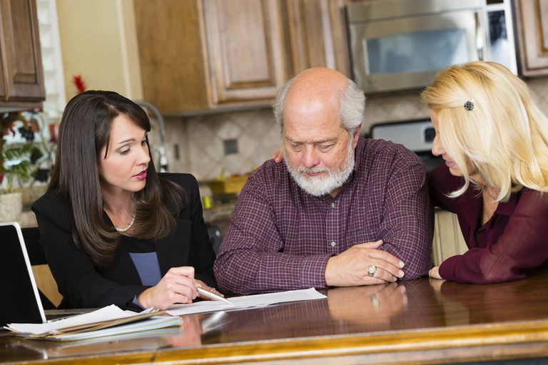 Family going over options to find Nursing Home Insurance
