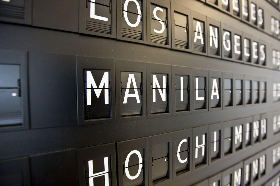 Manila airport sign