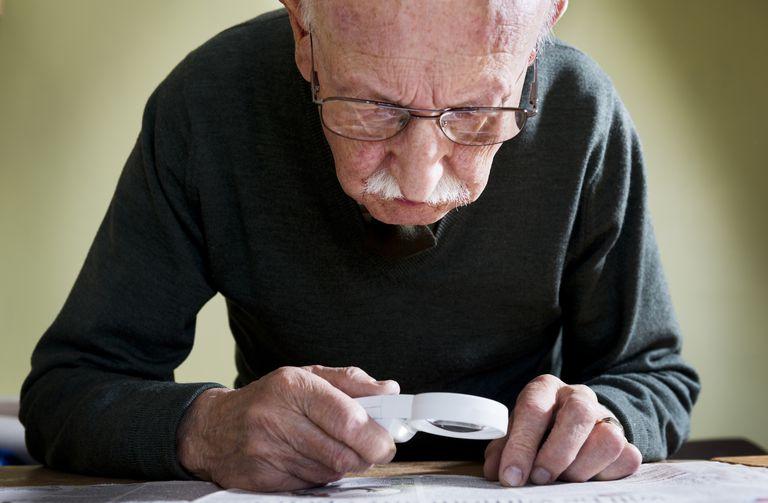 Senior Male With Macular Degeneration