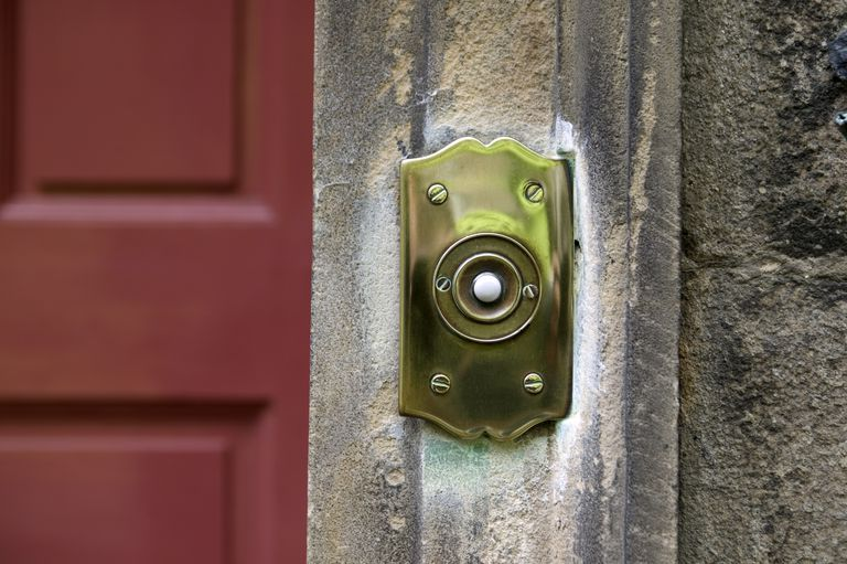 Extra home security homephone doorbell fon close up of a doorbell cheapraybanclubmaster Images