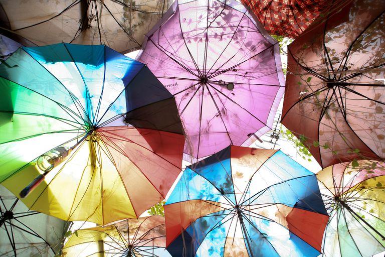 umbrellas in sky
