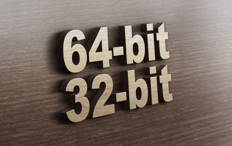 A 64-bit vs 32-bit graphic