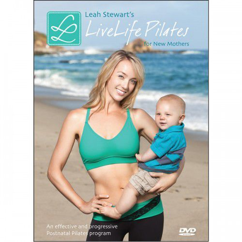 Woman holds baby on cover of LiveLife Pilates for New Mothers DVD