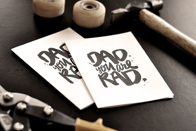 DIY Dad You Are Rad Card