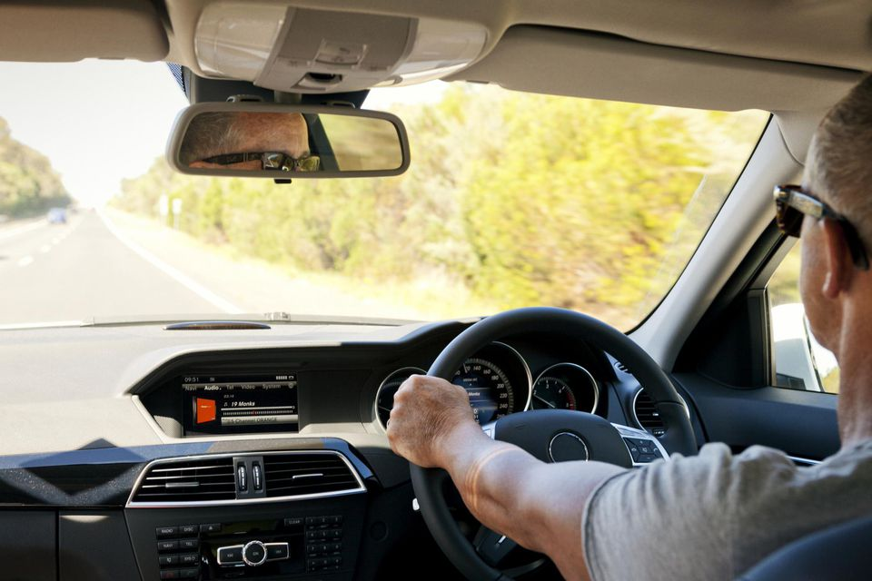 Man Driving Australian Car