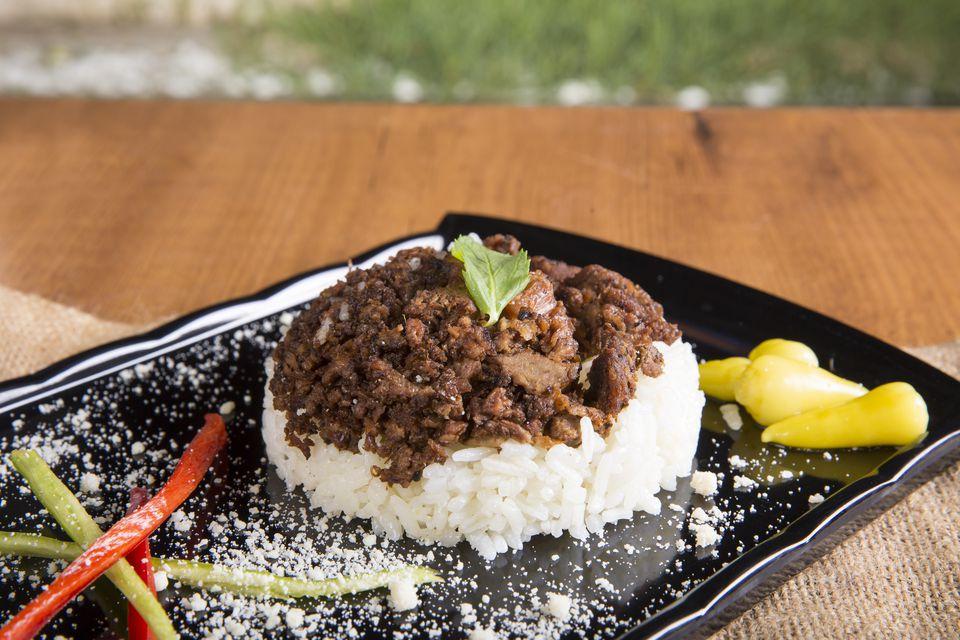 kavurma and rice