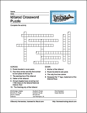 Print The Pdf Iditarod Crossword Puzzle