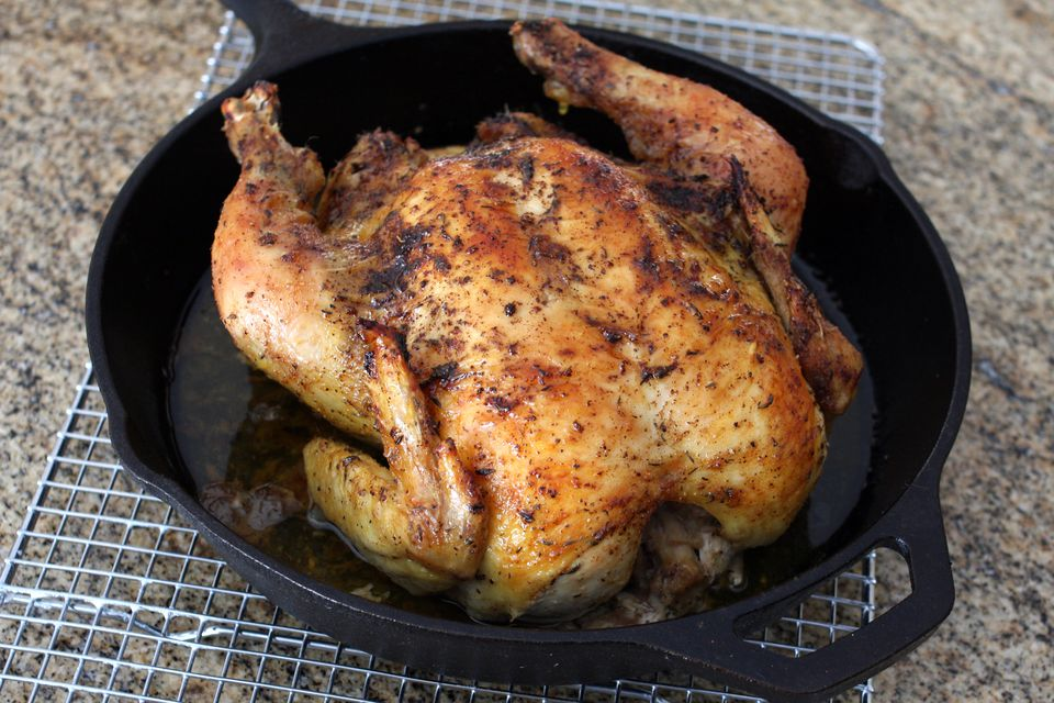 Iron Skillet Roasted Chicken