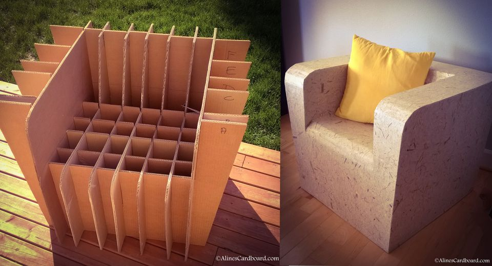 Cardboard Furniture For Dorm Rooms And Urban Nomads