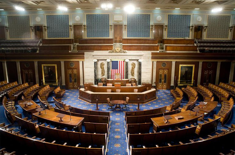 The U.S. House of Representatives chamber is seen December 8, 2008 in Washington, DC.