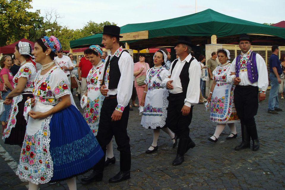 Men's and Women's Hungarian Folk Costumes