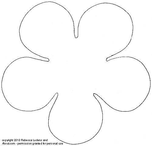 Flower patterns and templates for scrapbooking rounded five petal sketch pronofoot35fo Gallery