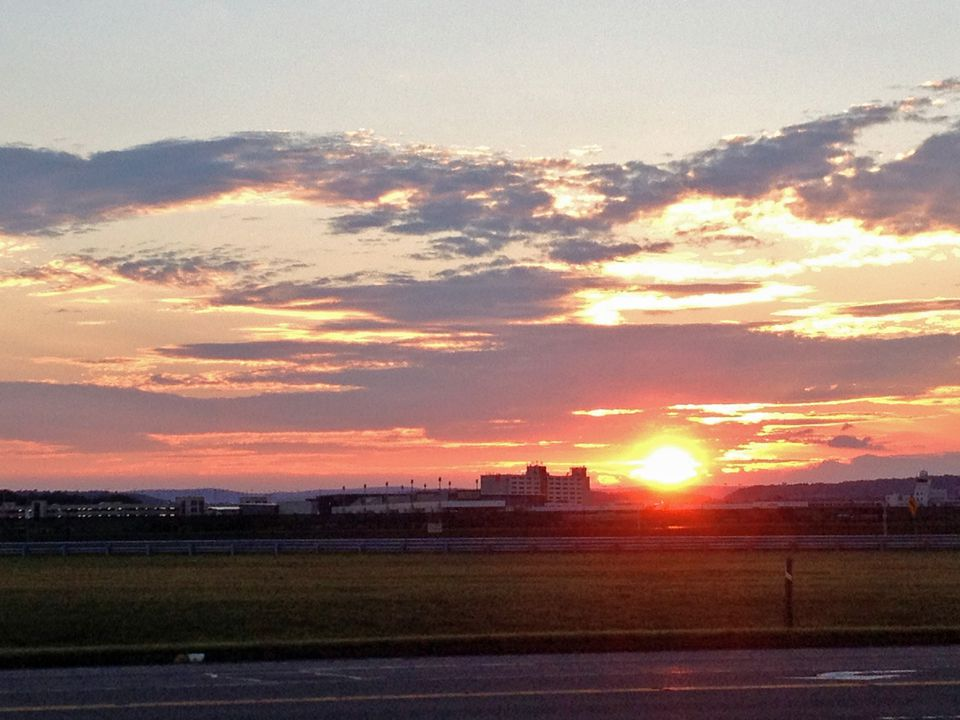 Hartford Bradley Airport Sunset