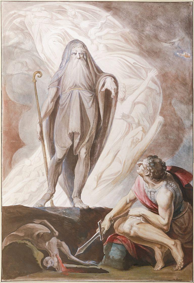 Tiresias Foretells the Future to Odysseus, 1780-1783. Artist: Füssli (Fuseli), Johann Heinrich (1741-1825)