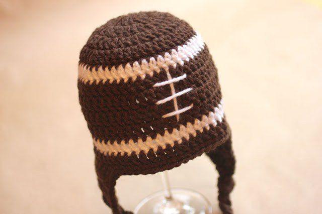 Crochet Football Baby Hat