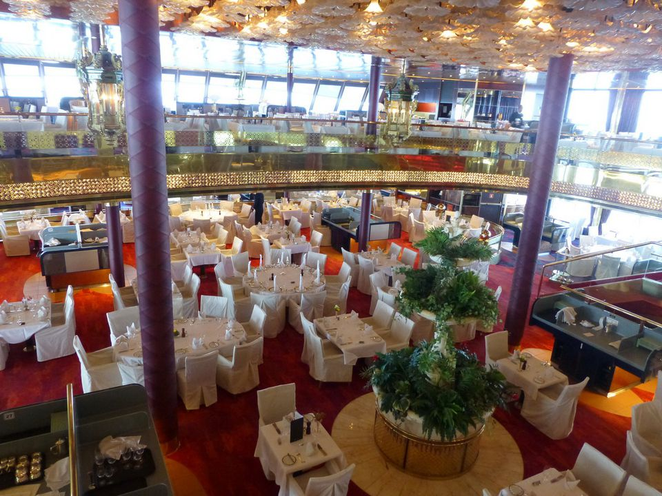 The Rotterdam Dining Room on the ms Maasdam is one of several dining venues on the cruise ship.