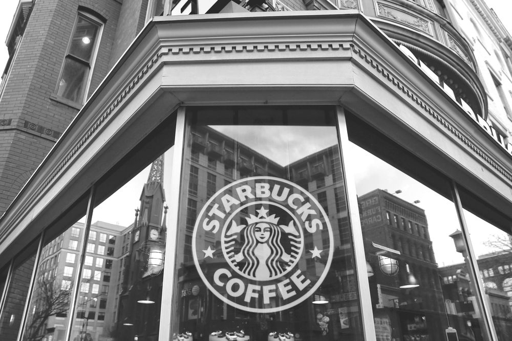 exterior view of a Starbucksin the Chinatown neighborhood of Washington, DC