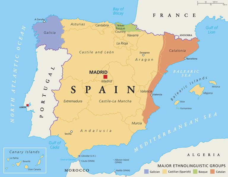 linguistic areas of Spain