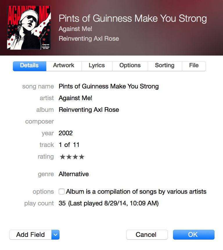 edit itunes song info