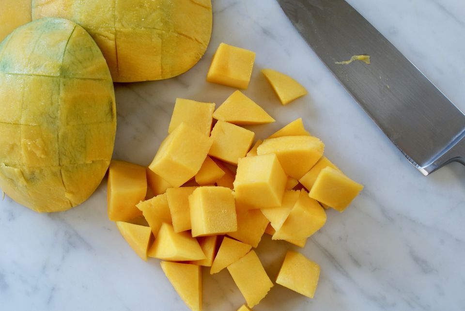 The best way to cut a mango both halves cut molly watson ccuart Choice Image