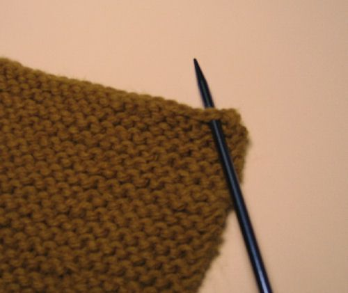 Knitting Picking Up Edge Stitches : How to pick up stitches in your knitting projects