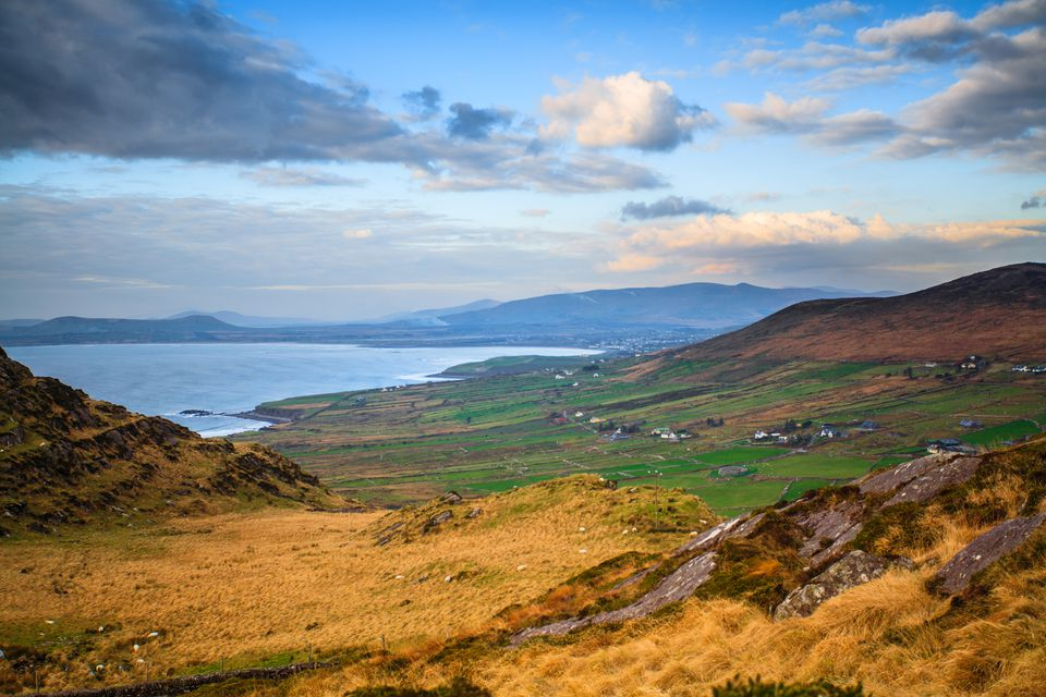 The Landscape of the Ring of Kerry in County Kerry, Ireland