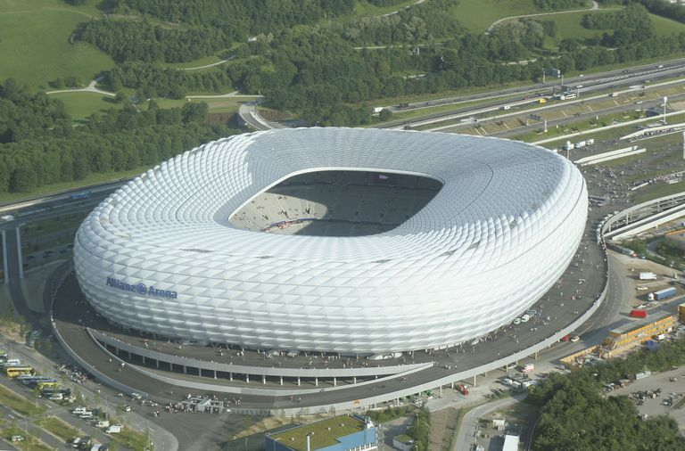 Aerial View Allianz Arena in Munich, Germany